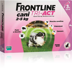 FRONTLINE TRI-ACT - CANI 2-5 Kg - 3 pipette