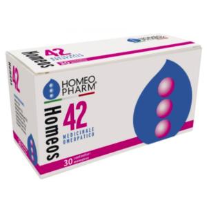 HOMEOS 42 GLOBULI OMEOPATICI - 30 tubi