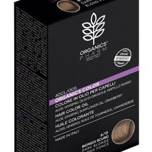 acquista su Parafarmacie.shop tintura biologica, naturale olio colore capelli organics pharm organic color 60 biondo scuro
